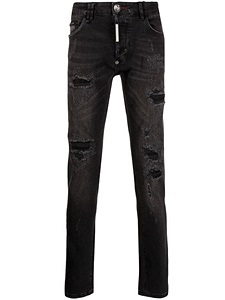 "Jeans Philipp Plein ""Super Straight Cut Destroyed"""
